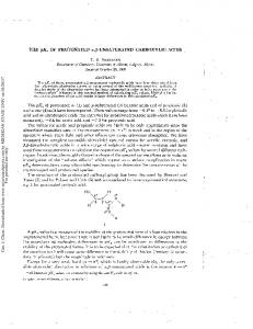 THE pka OF PROTONATED CARBOXYLIC ACIDS. T. S. SORENSEN Department of Chemistry, University of Alberta, Calgary, Alberta
