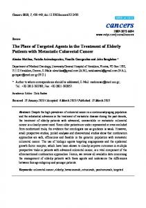 The Place of Targeted Agents in the Treatment of Elderly Patients with Metastatic Colorectal Cancer