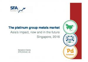The platinum group metals market Asia s impact, now and in the future Singapore, Beresford Clarke SFA (Oxford) Ltd