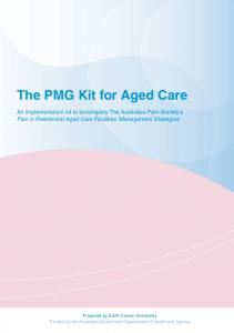 The PMG Kit for Aged Care