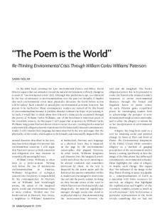 The Poem is the World