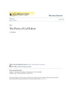 The Poetry of Carl Rakosi
