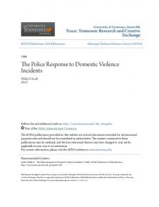 The Police Response to Domestic Violence Incidents