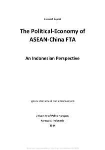 The Political-Economy of ASEAN-China FTA