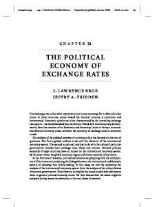THE POLITICAL ECONOMY OF EXCHANGE RATES