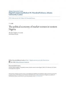 The political economy of market women in western Nigeria