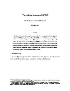 The political economy of OPEC
