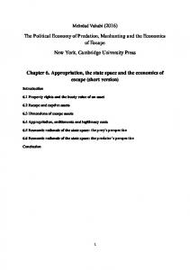The Political Economy of Predation, Manhunting and the Economics of Escape. New York, Cambridge University Press
