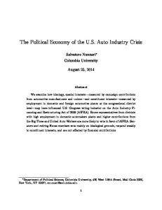 The Political Economy of the U.S. Auto Industry Crisis