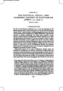 THE POLITICAL, SOCIAL, AND ECONOMIC HISTORY OF BABYLONIAN JEWRY, CE