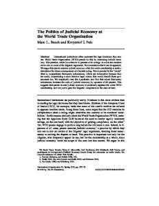 The Politics of Judicial Economy at the World Trade Organization