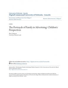 The Portrayals of Family in Advertising: Children's Perspectives