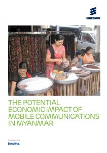 The potential economic impact of mobile communications in Myanmar