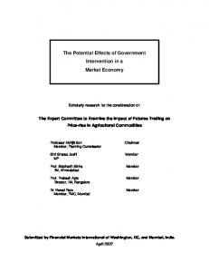 The Potential Effects of Government Intervention in a Market Economy
