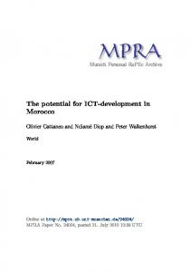 The potential for ICT-development in Morocco