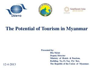 The Potential of Tourism in Myanmar