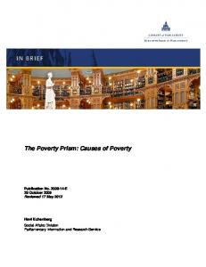The Poverty Prism: Causes of Poverty