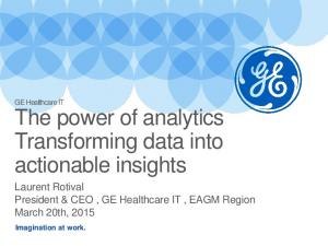 The power of analytics Transforming data into actionable insights