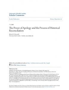 The Power of Apology and the Process of Historical Reconciliation