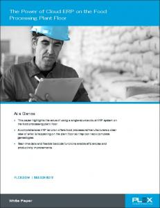 The Power of Cloud ERP on the Food Processing Plant Floor
