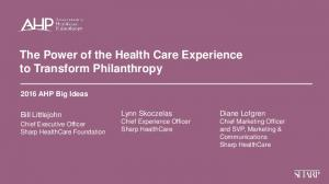 The Power of the Health Care Experience to Transform Philanthropy