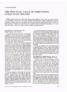 THE PRACTICAL VALUE OF DIRECTIONAL OCEAN WAVE SPECTRA