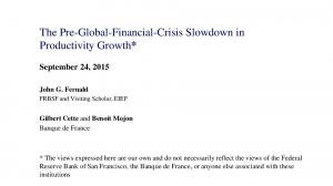 The Pre-Global-Financial-Crisis Slowdown in Productivity Growth*