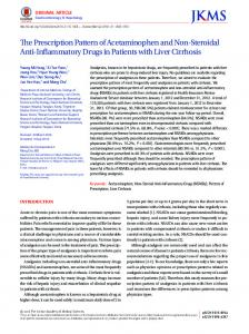 The Prescription Pattern of Acetaminophen and Non-Steroidal Anti-Inflammatory Drugs in Patients with Liver Cirrhosis