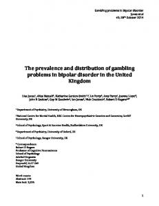 The prevalence and distribution of gambling problems in bipolar disorder in the United Kingdom