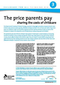The price parents pay