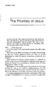 The Priorities of Jesus