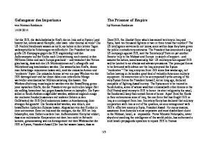 The Prisoner of Empire. Gefangener des Imperiums. von Norman Birnbaum by Norman Birnbaum