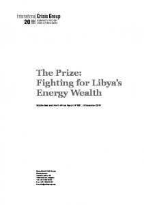 The Prize: Fighting for Libya s Energy Wealth