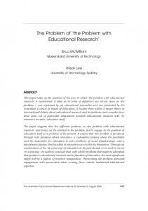 The Problem of the Problem with Educational Research