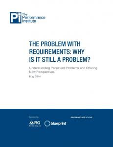 The Problem with Requirements: Why Is It Still a Problem?