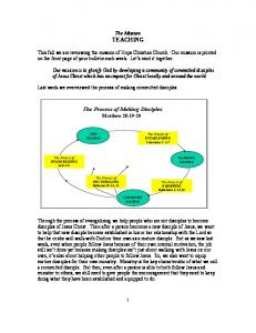 The Process of Making Disciples Matthew 28:19-20