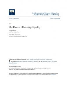 The Process of Marriage Equality
