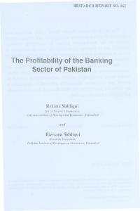 The Pro'fitabilityof the Banking Sector of Pakistan