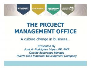 THE PROJECT MANAGEMENT OFFICE