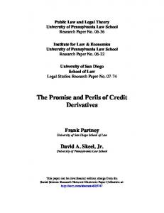 The Promise and Perils of Credit Derivatives
