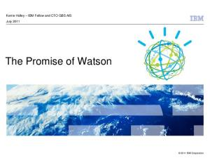 The Promise of Watson