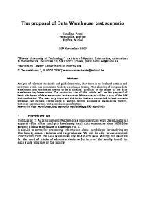 The proposal of Data Warehouse test scenario