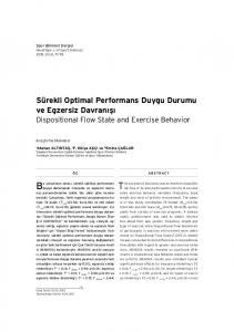 The purpose of this study was to examine dispositional