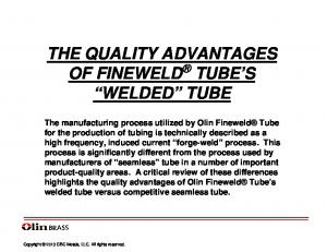 THE QUALITY ADVANTAGES OF FINEWELD TUBE S WELDED TUBE