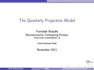 The Quarterly Projection Model