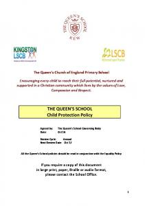 THE QUEEN S SCHOOL Child Protection Policy