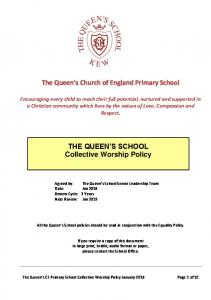 THE QUEEN S SCHOOL Collective Worship Policy