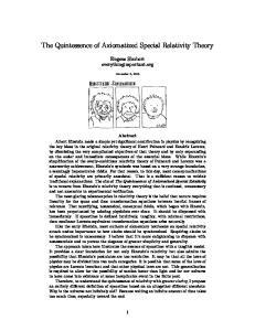 The Quintessence of Axiomatized Special Relativity Theory