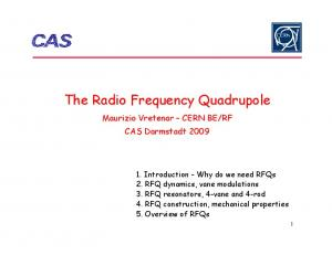 The Radio Frequency Quadrupole