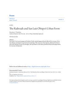 The Railroads and San Luis Obispo s Urban Form